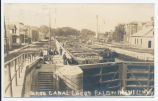 BARGE CANAL LOCKS BALDWINSVILLE, NY [handwritten front caption] (1front) [b0055ac1]