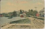 View of Eddyville, Looking West, showing D. & H. Canal, Eddyville, N. Y. [front caption]...