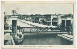 ERIE CANAL AND HOIST BRIDGE, CANASTOTA,  N.Y. [front caption] (1front) [e0005ac1]
