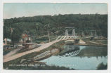 VIEW OF SUSPENSION BRIDGE FROM WEST SHORE R.R LITTLE FALLS. NY. [front caption] (1front) [e0577ac1]