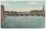 Aqueduct over Genesee River, and Court Street Bridge, Rochester, N. Y. [front caption] (1front)...