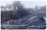 SOUTH SIDE. RTAINING WALL. BVILLE GARDNER & DAVIS [handwritten front caption] (1front)...
