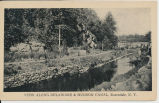 VIEW ALONG DELAWARE & HUDSON CANAL, Rosendale, N.Y. [front caption] (1front) [d0100ac1]