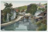 Rosendale N. Y., Loading canal boats at the loch, Old D. & H. Canal. [front caption] (1front)...