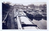 [Canal boats parked in a boatyard on the Erie Canal] [untitled] (1front) [e0642ac1]
