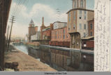 Syracuse N.Y., Erie Canal West St., Looking East [front caption] (1front) [e0150ar1]