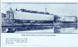 SHIP BUILDING IN THE TONAWANDAS. [portion of front caption] (1front) [e0659ac1]