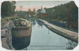 Rosendale N.Y. Looking down D.&H. Canal. Boat waiting for a pull. [front caption] (1front)...