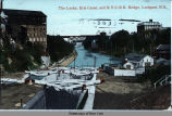 The Locks, Eric Canal and N.Y.C.R.R. Bridge, Lockport, N.Y. [front caption] (1front) [e0366ac1]