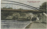 Boat Leaving Lock in Erie Canal, Newark, N.Y. [front caption] (1front) [e213ac1]