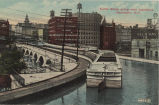 Canal Boats going over Aqueduct, Rochester, N.Y. [front caption] (1front) [e0218ac1]