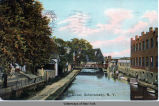 The Canal from Liberty Street, Schenectady, N.Y. [front caption] (1front) [e0262ac1]