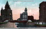 Erie Canal and Clinton Square, Syracuse, N.Y. [front caption] (1front) [e0336ac1]