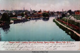 """Seneca Canal"", Looking East from Rumsey Street Bridge, Seneca Falls, N. Y. [front..."