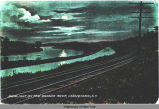 MOONLIGHT ON THE MOHAWK RIVER, CANAJOHARIE, N.Y. [front caption] (1front) [e0141ac1]
