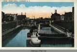 LOCKS (UPPER LEVEL), LOCKPORT, N. Y. [front caption] (1front) [e0384ac1]