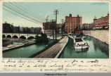 WHERE THE ERIE CANAL CROSSES THE GENESEE, ROCHESTER, N. Y. [front caption] (1front) [e0385ac1]