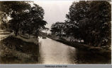 Canal boat travelling along the Erie Canal near Rome, N.Y. [no caption] (1front) [e0233ac1]