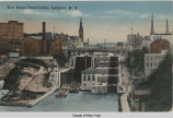 New Barge Canal Locks, Lockport, N.Y. [front caption] (1front) [e0359ac1]