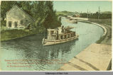 Scene on the Champlain Canal near Bemis Heights, N.Y. The Valley famous as the seat of the Battle...