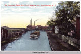 The Champlain Canal North from Saratoga Ave., Mechanicville, N.Y. [front caption] (1front)...