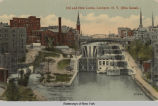 Old and New Locks, Lockport, N. Y. (Erie Canal). [front caption] (1front) [e0483ac1]