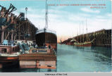 SCENE IN BUFFALO HARBOR SHOWING COAL DOCKS, BUFFALO, N.Y. [front caption] (1front) [e0134ac1]