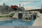 View of New Lock, Erie Canal, Lockport, N. Y. [front caption] (1front) [e0225ac1]