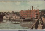 Bridge Street, showing Seneca Canal and Seneca Falls Mfg. Co., Seneca Falls, N.Y. [front caption]...