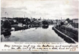 """Seneca Canal,"" Looking East from Rumsey Street Bridge,  Seneca Falls, N.Y. [front..."