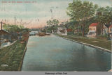 Scene on Erie Canal, Cohoes, N.Y. [front caption] (1front) [e0131ac1]