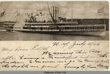 [A steamship named the NEW YORK on the Hudson River] [untitled] (1front) [h0069ac1]