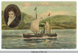 "ON AUGUST 17, 1808, THE FIRST STEAMBOAT, ROB'T FULTON 'S ""CLERMONT"" STARTED ITS FAMOUS..."