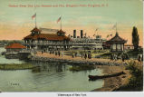 Hudson River Day Line Steamer and Pier, Kingston Point, Kingston, N. Y. [front caption] (1front)...