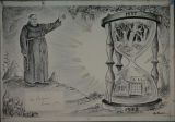 Siena College Historic Image, Fr. Benjamin Kuhn, O.F.M. drawing , 1952