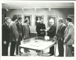 Siena College Historic Image, 1981, Presentation of Matthew Bender Press publications to Siena...