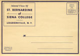 Siena College Historic Postcard Folder, 1940