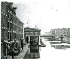 Canal Boat Being Weighed at the Syracuse Weighlock Building