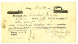 Receipt for the Payment of Passage for 5  People, Albany 1837