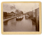 First Steel Canal Boat Company Barge, Passing Through Canastota, New York