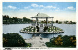 Onondaga Park- the Island and Band Stand, Syracuse, N.Y. Postcard