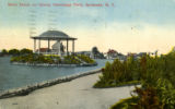 Band Stand on Island, Onondaga Park, Syracuse, N.Y. Postcard