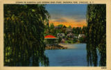 Evening on Hiawatha Lake Showing Band Stand, Onondaga Park, Syracuse, N.Y. Postcard