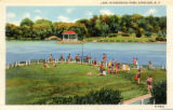 Lake in Onondaga Park, Syracuse, N.Y. Postcard