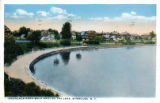 Onondaga Park- Walk Around the Lake, Syracuse, N.Y. Postcard