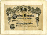 Syracuse Central High School Diploma; Mack, Anna Louise, 1887-06-23