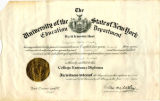 The University of the State of New York College Entrance Diploma; Marty, Viriginia Aletta, 1929-06