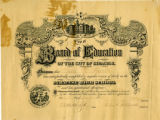 Syracuse Central High School Diploma; Harth, Ida W., 1892-06-21