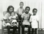 Lillian Williams, wife of Levi, and her children.