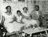Cole Family members visiting Syracuse from Texas: Luther, Frankie, Margie Cole Francis, Katherine...